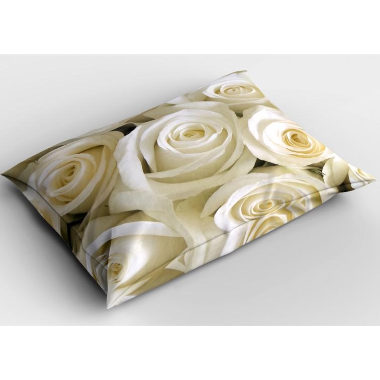 Флорална декоративна възглавница Бели рози - White Roses