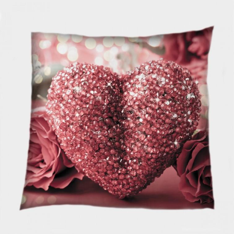 Декоративна възглавница за влюбени Блестящо сърце - Shining Heart
