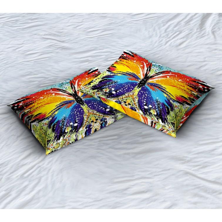 Арт декоративна възглавница Цветна пеперуда - Colorful Butterfly