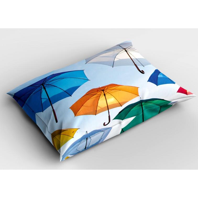 Деко възглавница Цветни чадъри - Colorful Umbrellas