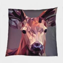 Интересна деко възглавница Геометричен елен - Geometric Deer