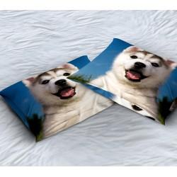 Декоративна възглавница с куче Бебе хъски - Baby Husky