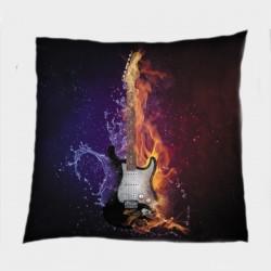 Декоративна възглавница Китара огън и лед - Guitar Ice and Fire