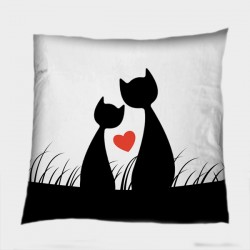 Сладка деко възглавница Котешка любов - Cats Love