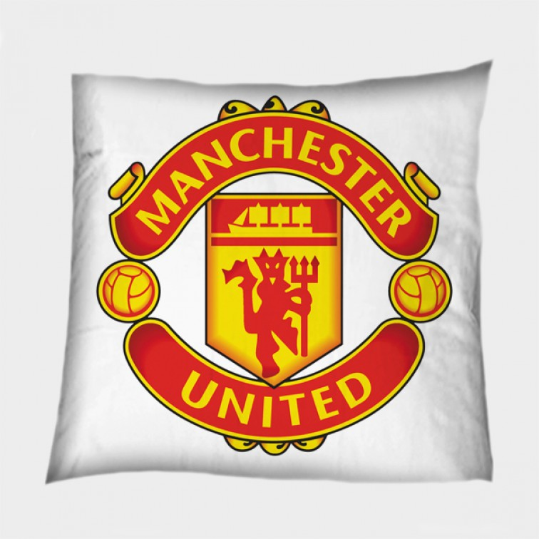 Футболна декоративна възглавница Манчестър Юнайтед - Manchester United White