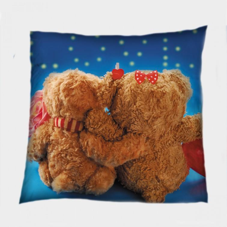 Деко възглавница Мечета под звездите - Bears under the Stars