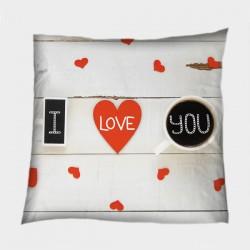 Деко възглавница за влюбени Признание в любов - Declaration of Love