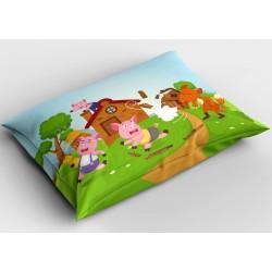 Сладка декоративна възглавница Трите прасенца - Three Little Pigs