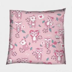 Романтична деко възглавница Влюбени лемури - Lemurs Love