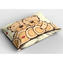 Сладка декоративна възглавничка Влюбени мечета - Bears in Love