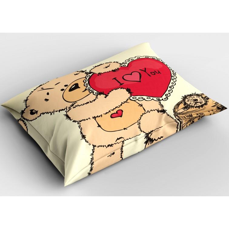 Декоративна възглавница Влюбено мече - Bear in Love