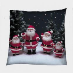 Коледна деко възглавница Фигурки на дядо Коледа - Santa Claus Figurines