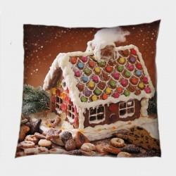 Възглавница за Коледа Коледна захарна къщичка - Christmas Candy House