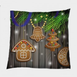 Коледна декоративна възглавница Коледни бисквитки - Christmas Cookies