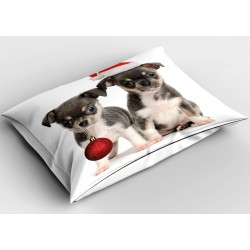 Коледна възглавничка Коледни кученца - Christmas Puppies