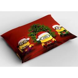 Коледна възглавничка Коледни миниони - Christmas Minions