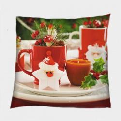 Декоративна коледна възглавница Коледни мотиви - Christmas Motives