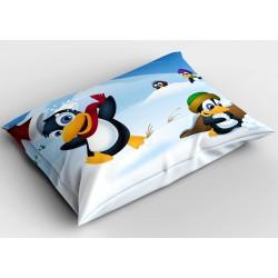 Коледна възглавница за декорация Коледни пингвини - Christmas Pinguins