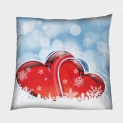 Декоративна възглавница Любов през зимата - Winter Love