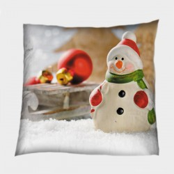 Декоративна коледна възглавница Снежен човек - Snowman