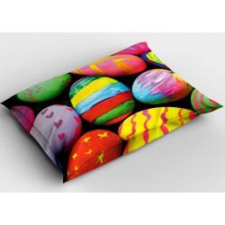 Празнична декоративна възглавница Цветни великденски яйца - Colorful Easter Eggs