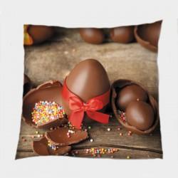 Деко възглавница за Великден Шоколадови яйца - Chocolate Eggs