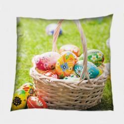Празнична декоративна възглавница Великденска кошница - Easter Basket