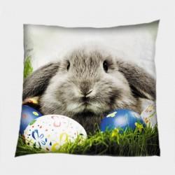 Великденска деко възглавница Великденски заек - Easter Bunny