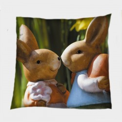 Декоративна възглавница Великденски зайчета - Easter Bunnies