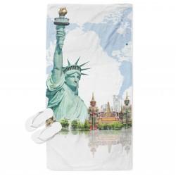 Кърпа за плаж с 3D принт Ню Йорк - New York