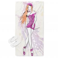 Ефектна плажна кърпа Арт жена - Art woman