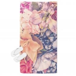 Стилна плажна кърпа Красиви цветя - Beautiful Flowers