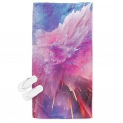 Хавлиена кърпа за плаж с принт Цветна боя - Colorful Paint