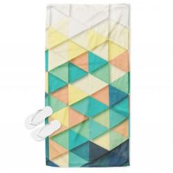 Уникална хавлия за плаж Цветни триъгълници - Colorful Triangles