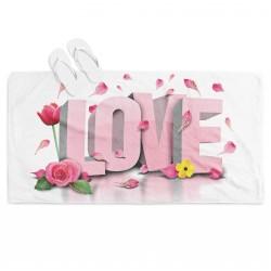 Романтична плажна кърпа Да живее любовта - Long Live Love