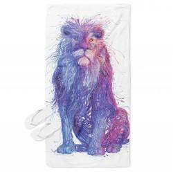 Цветна кърпа за плаж Дигитален лъв - Art Digital Lion
