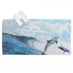 Хавлиена кърпа за плаж с делфини - Dolphin Dance