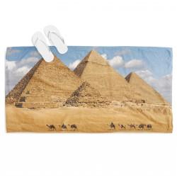 3D плажна кърпа Египетски пирамиди - Egypt Pyramids