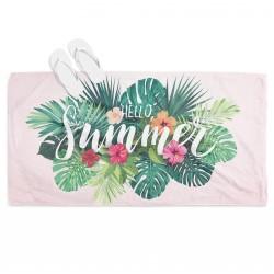 Ефетна кърпа за плаж Здравей лято - Hello Summer