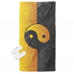 Плажна кърпа с 3D принт Ин и Ян - In and Yan