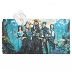 Плажна кърпа с принт Карибски пирати - Pirates of The Caribbean