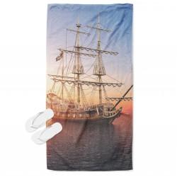 Ефектна кърпа за плаж Корабче - Ship