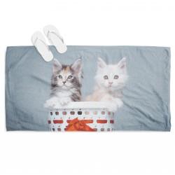 Сладурска кърпа за плаж Котки в кошница - Cats in Basket