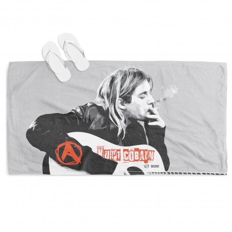 Фенска плажна кърпа Кърт Кобейн - Kurt Cobain