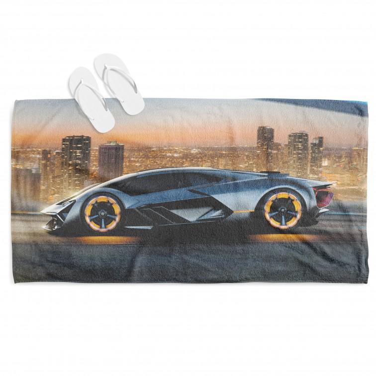 Хавлиена кърпа за плаж с автомобил Ламборджини - Lamborghini