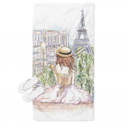 Арт кърпа за плаж Лято в Париж - Summer in Paris
