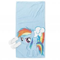 Детска кърпа за плаж Малкото пони в синьо - Little Pony