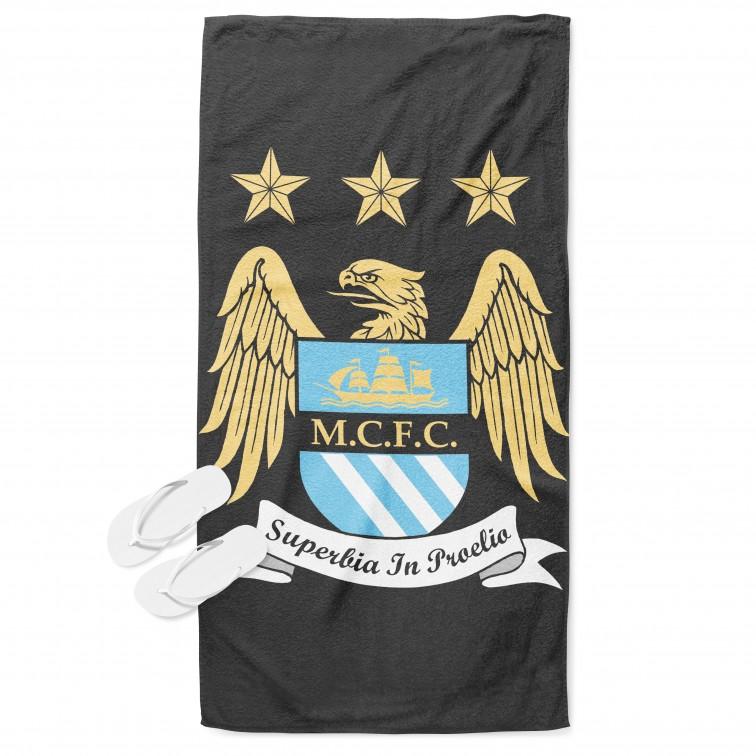 Футболна плажна кърпа Манчестър Сити - Manchester City
