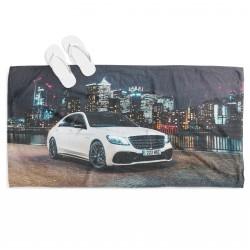 Плажна кърпа с кола Мерцедес в града - Mercedes in the City
