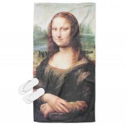 Арт плажна кърпа Мона Лиза - Mona Lisa